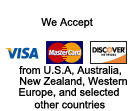 Global Equipment Exporters accepts Visa, Mastercard, and Discover from U.S. customers for purchases of contruction equipment, heavy equipment, machinery, trucks, parts, attachments
